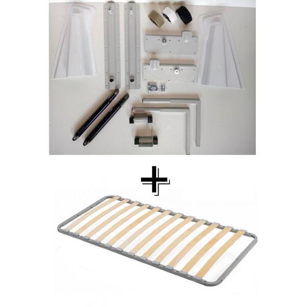 VAMNADO Комплект шкаф-кровать Smart 508 Г вертикальный 100/190/200 см Via Ferrata