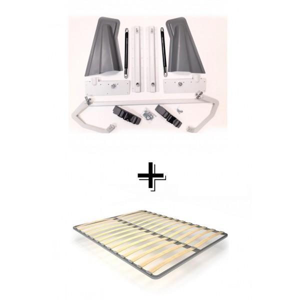 Комплект шкаф-кровать Smart 508 B горизонтальный 140/190/200 см Via Ferrata  VAMNADO
