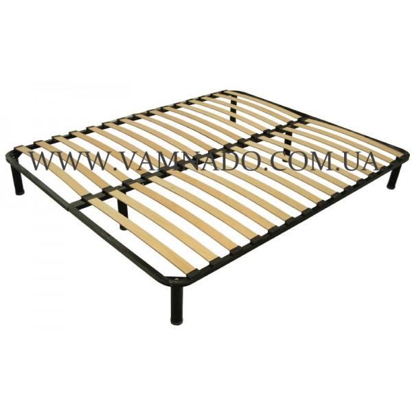 Двуспальный каркас кровати ортопедический вкладной (без ножек)  VAMNADO