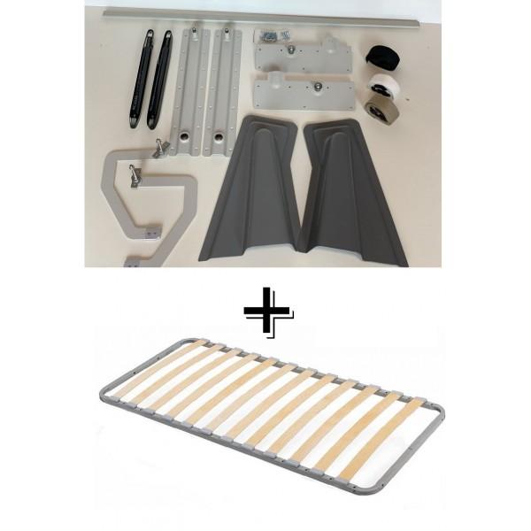 VAMNADO Комплект шкаф-кровать Smart 508 B вертикальный 100/190/200 см Via Ferrata