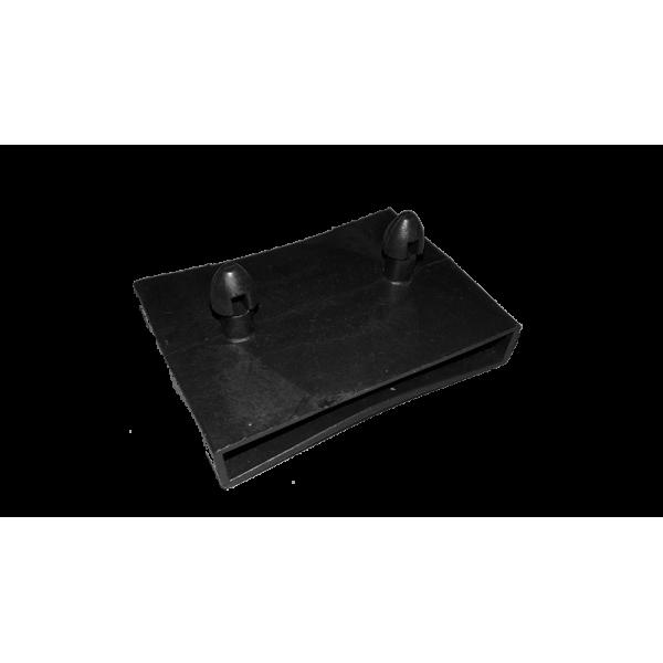 Латодержатель накладной сквозной центральный 63 С черный  VAMNADO