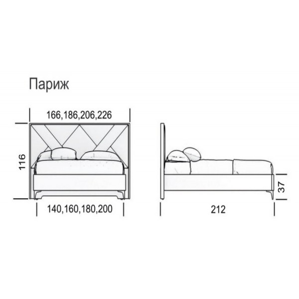 Кровать Париж модерн Green Sofa GreenSofa VAMNADO