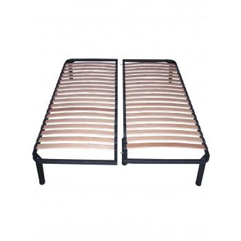Двуспальный каркас кровати ортопедический с ножками разборной