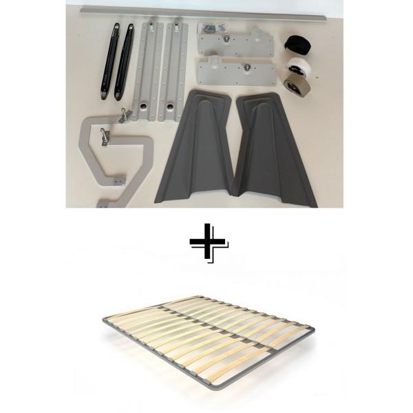 VAMNADO Комплект шкаф-кровать Smart 508 B горизонтальный 140/190/200 см Via Ferrata