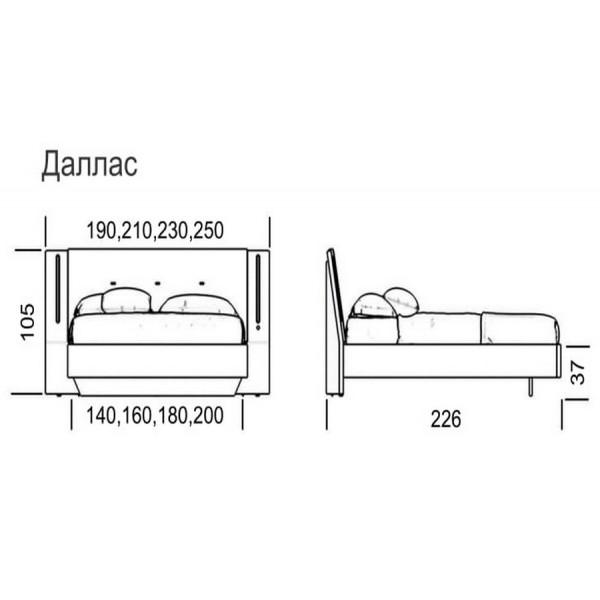 Кровать Даллас Green Sofa GreenSofa VAMNADO
