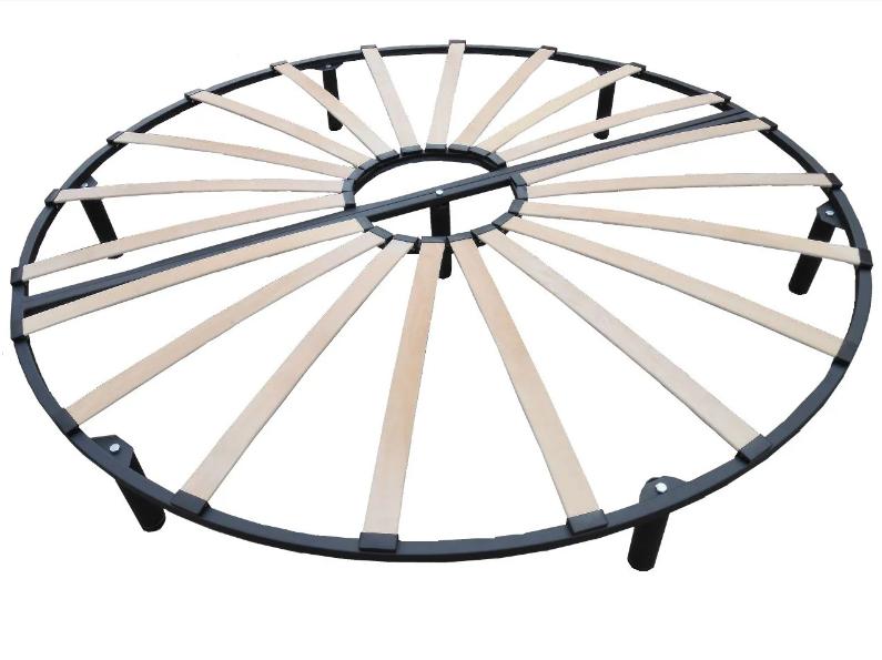 Ортопедический двухконтурный каркас для круглой кровати vamnado